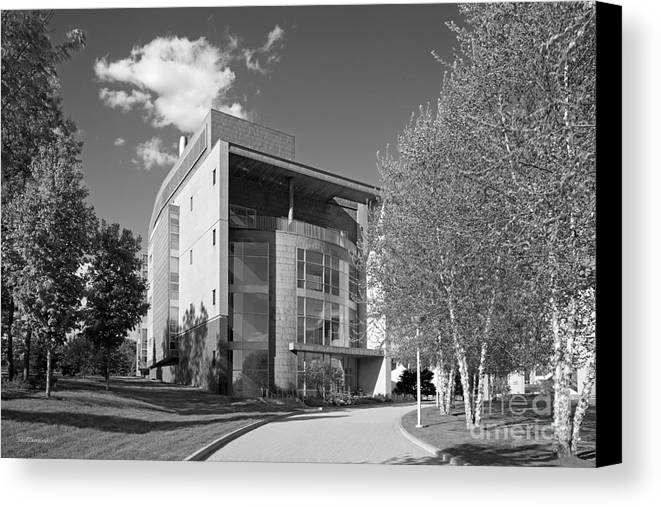 Academic Center Canvas Print featuring the photograph Olin College Academic Center by University Icons