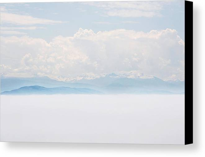 Landscape Canvas Print featuring the photograph Olympic Mountains by Craig Wactor
