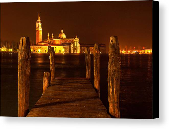 Venice Canvas Print featuring the photograph On Edge by Jim Southwell