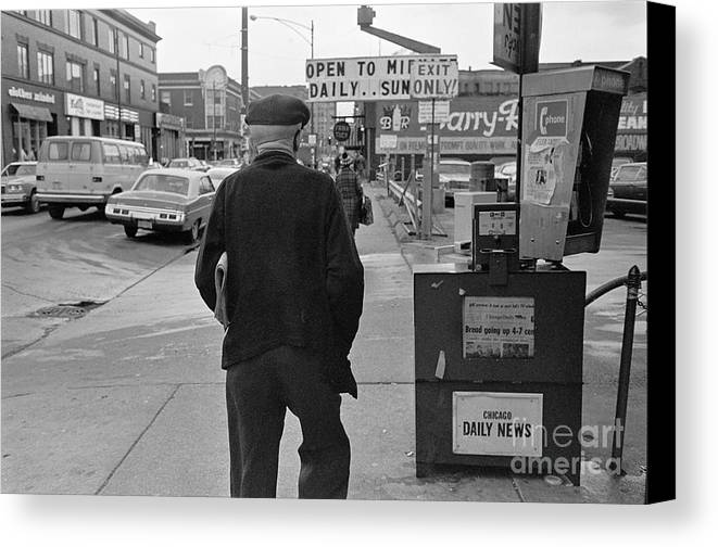 3010 North Broadway Canvas Print featuring the photograph On The Street - Broadway by William Stetz