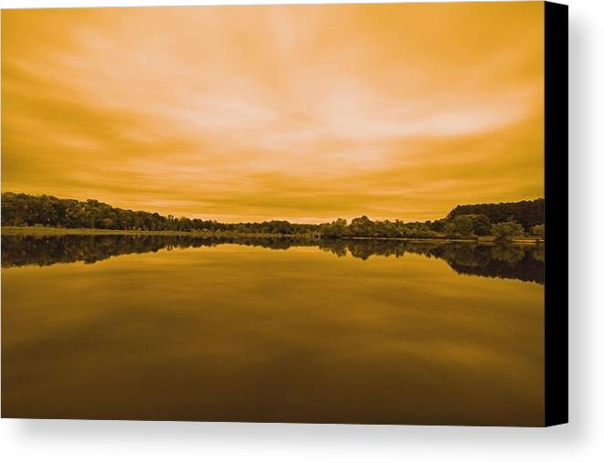 Country Canvas Print featuring the photograph On The Water by Josh Middleton