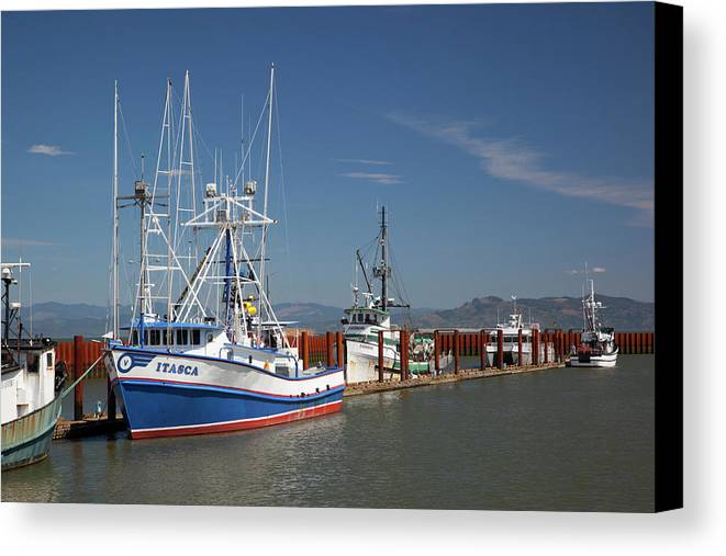 Astoria Canvas Print featuring the photograph Or, Astoria, East Basin Moorage by Jamie and Judy Wild