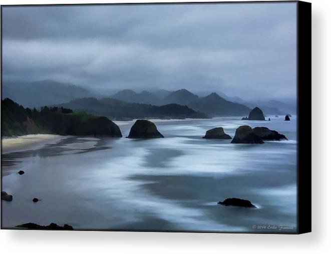 Beach Canvas Print featuring the photograph Oregon Coast by Erika Fawcett