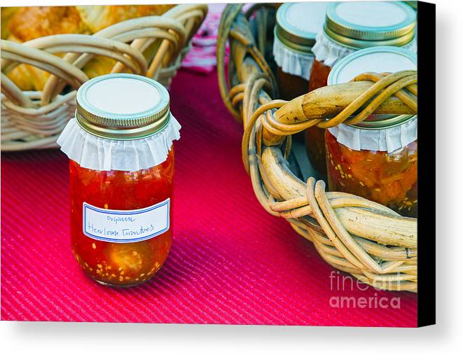 Tomatoes Canvas Print featuring the photograph Organic Goodness by Mary Smyth