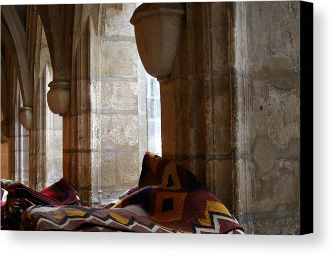 Rugs Canvas Print featuring the photograph Oriental Rugs In Paris by A Morddel