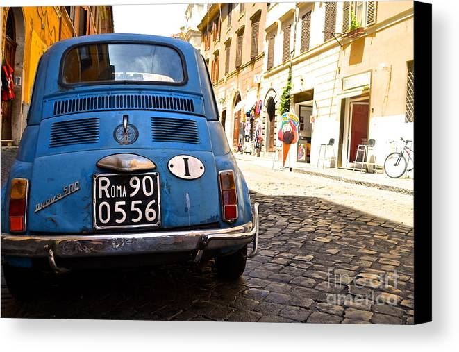 Italy Canvas Print featuring the photograph Original Fiat by Arthur Hofer