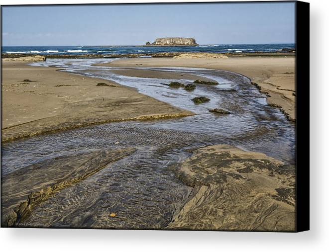 Sand Canvas Print featuring the photograph Otter Rock by Erika Fawcett