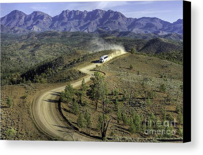 Outback Canvas Print featuring the photograph Outback Tour by Ray Warren