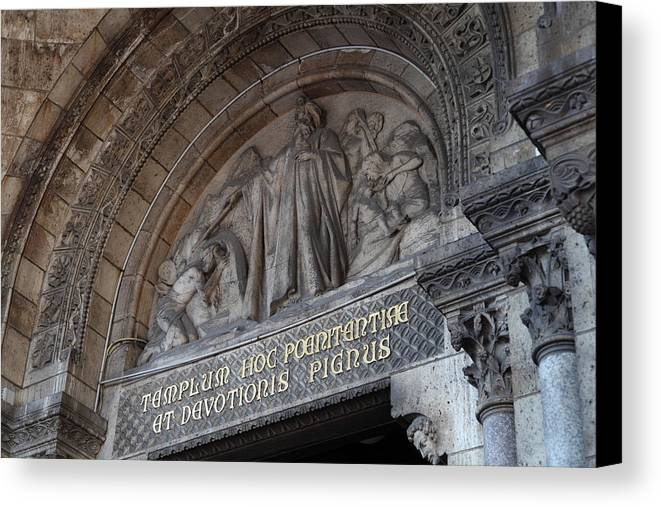 And Canvas Print featuring the photograph Outside The Basilica Of The Sacred Heart Of Paris - Sacre Coeur - Paris France - 011312 by DC Photographer