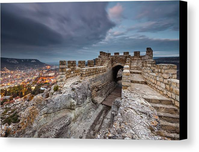 Bulgaria Canvas Print featuring the photograph Ovech Fortress by Evgeni Dinev