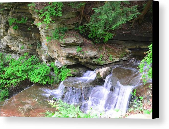 Letchworth Canvas Print featuring the photograph Over Rocks by Kathleen Struckle