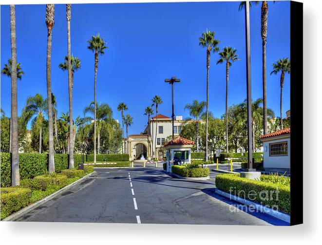 Paramount Studios Canvas Print featuring the photograph Paramount Movie Studio Hollywood Ca 3 by David Zanzinger