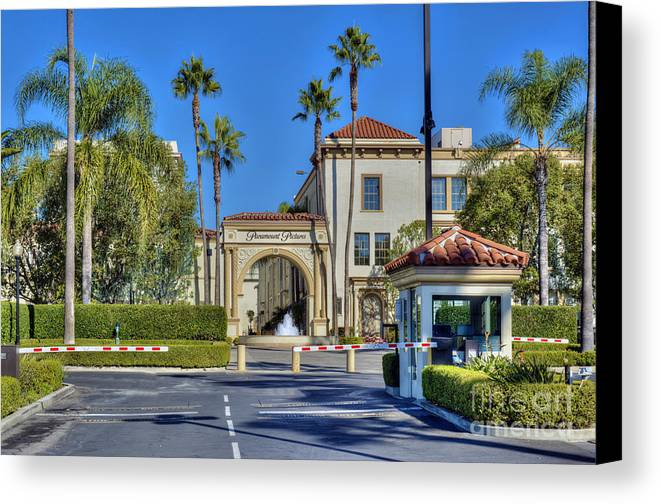 Paramount Studios Canvas Print featuring the photograph Paramount Movie Studio Hollywood Ca 4 by David Zanzinger