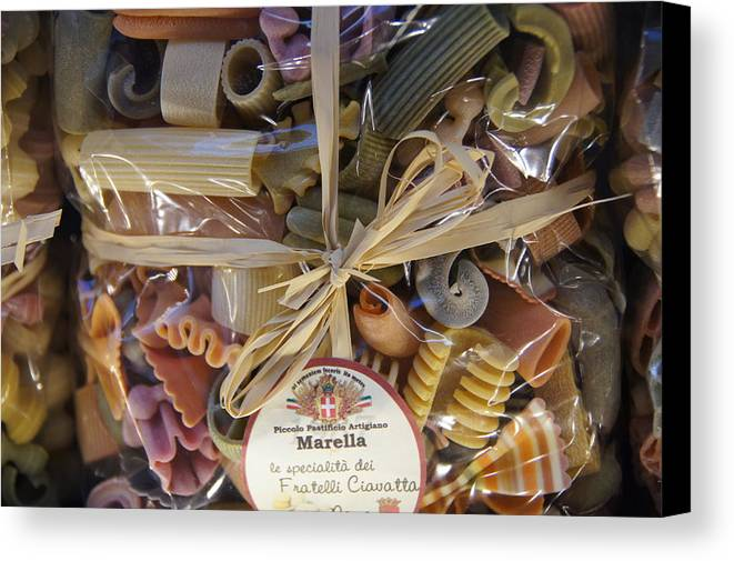 Italy Canvas Print featuring the photograph Pasta by Debi Demetrion