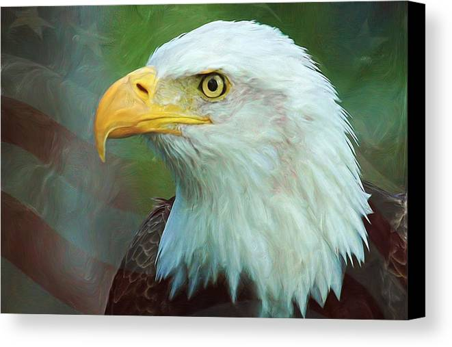4th Canvas Print featuring the digital art Patriot by Heidi Smith