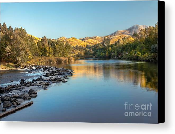 Idaho Canvas Print featuring the photograph Peaceful River by Robert Bales