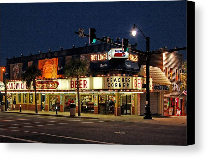 Peaches Corner Canvas Print featuring the photograph Peaches Corner by Suzanne Gaff
