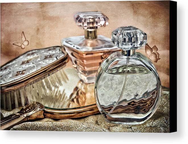 Perfume Canvas Print featuring the photograph Perfume Bottle Ix by Tom Mc Nemar