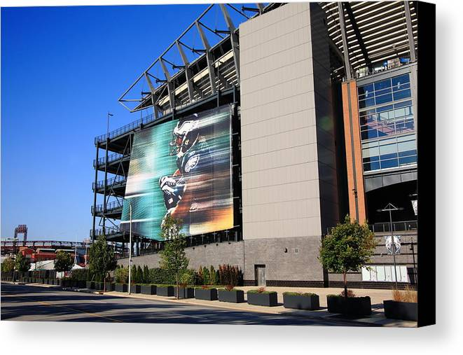 America Canvas Print featuring the photograph Philadelphia Eagles - Lincoln Financial Field by Frank Romeo