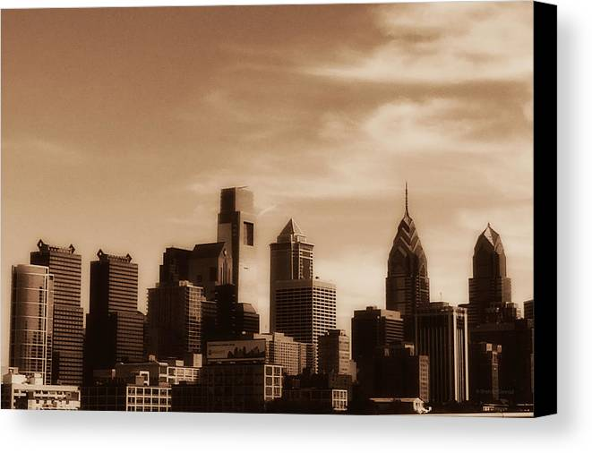 Skyline Canvas Print featuring the photograph Philly Skyline 2013 by Brenda Conrad