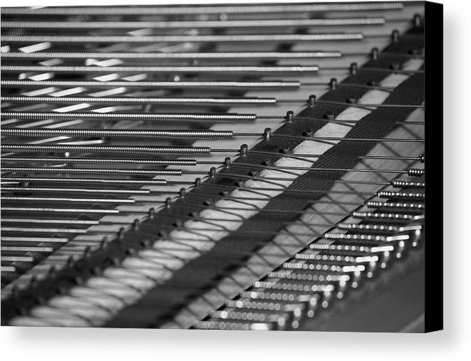 Close Up Canvas Print featuring the photograph Piano Strings Waterloo, Quebec, Canada by David Chapman