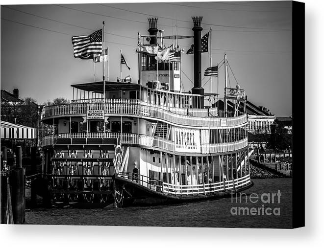 America Canvas Print featuring the photograph Picture Of Natchez Steamboat In New Orleans by Paul Velgos
