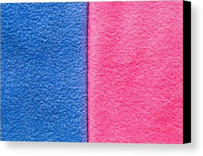 Abstract Canvas Print featuring the photograph Pink And Blue by Tom Gowanlock