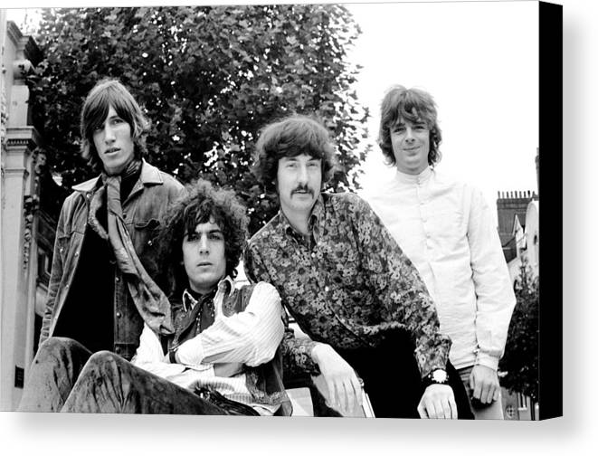 Pink Floyd Canvas Print featuring the photograph Pink Floyd 1967 by Chris Walter