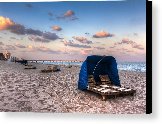 Deerfield Canvas Print featuring the photograph Pink Sands by Debra and Dave Vanderlaan