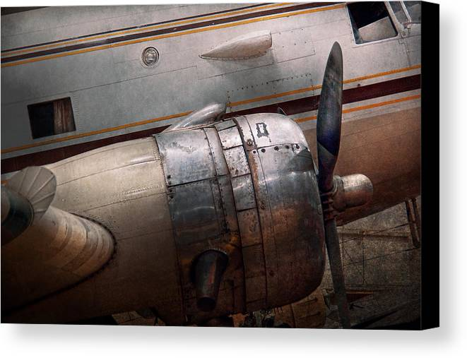 Plane Canvas Print featuring the photograph Plane - A Little Rough Around The Edges by Mike Savad