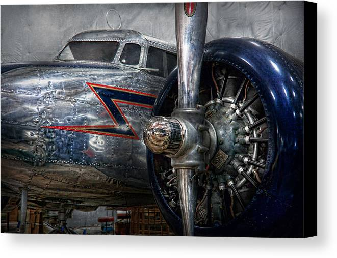 Plane Canvas Print featuring the photograph Plane - Hey Fly Boy by Mike Savad