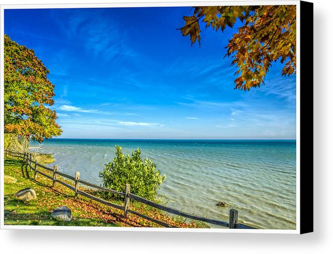 Color Tour Canvas Print featuring the photograph Port Sanilac Scenic Turnout by LeeAnn McLaneGoetz McLaneGoetzStudioLLCcom