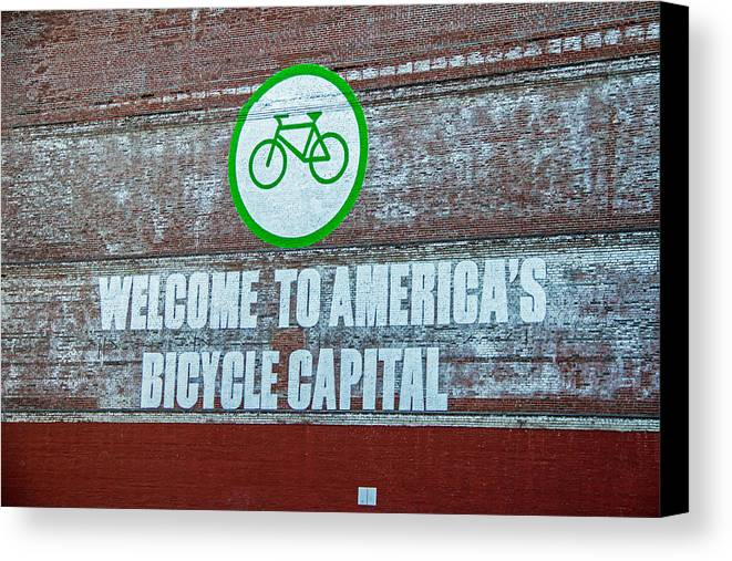 Portland Bicycling Canvas Print featuring the photograph Portlandia by Kunal Mehra