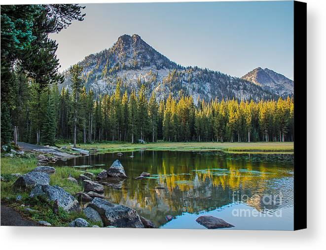 Wallowa Mountains Canvas Print featuring the photograph Pristine Alpine Lake by Robert Bales