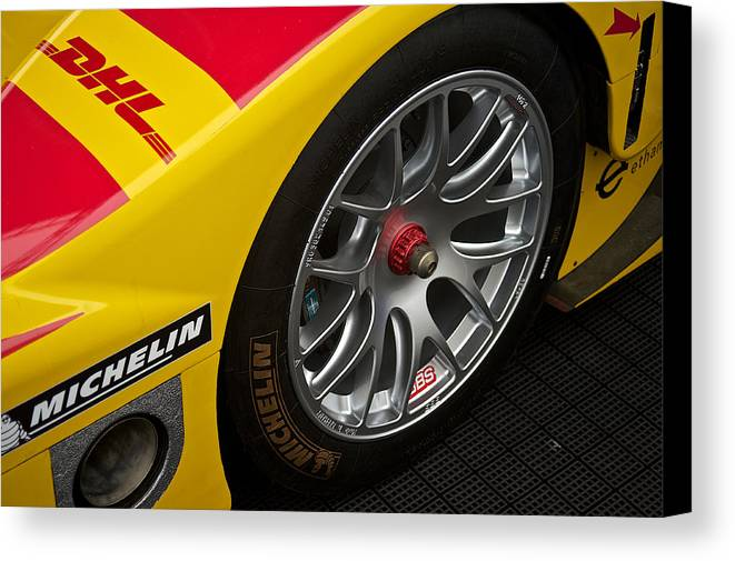 Canvas Print featuring the photograph Prototype Wheel Detail by Dave Koontz