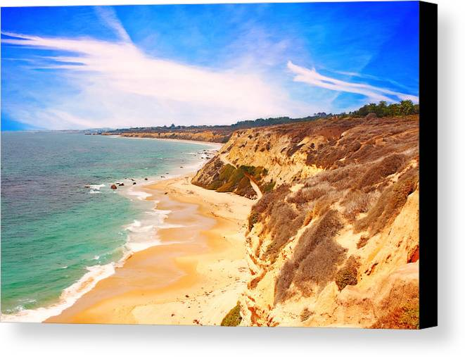 Beach Canvas Print featuring the digital art Public Seclusion by Tanya Cordy