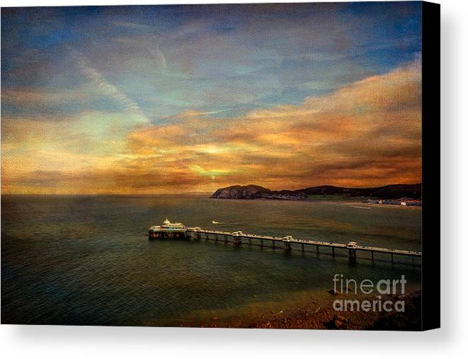 British Canvas Print featuring the photograph Queen Of The Welsh Resorts by Adrian Evans