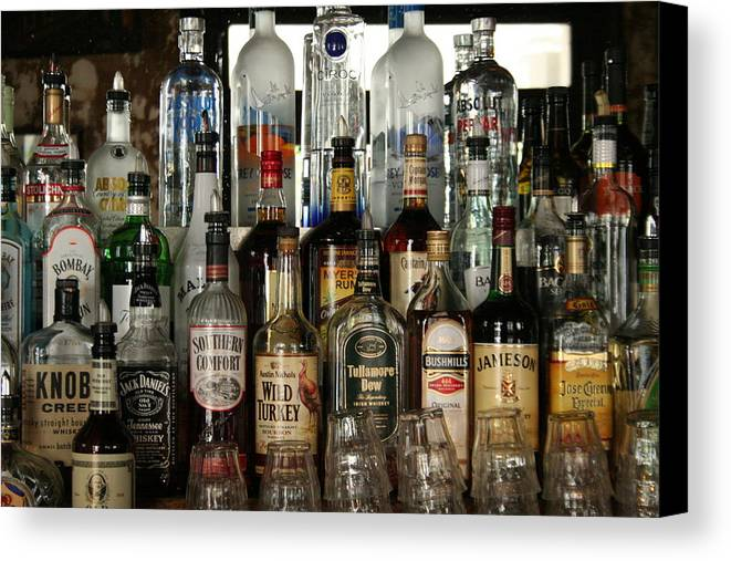 Alcohol Canvas Print featuring the photograph Quick Shot by Rhonda Burger
