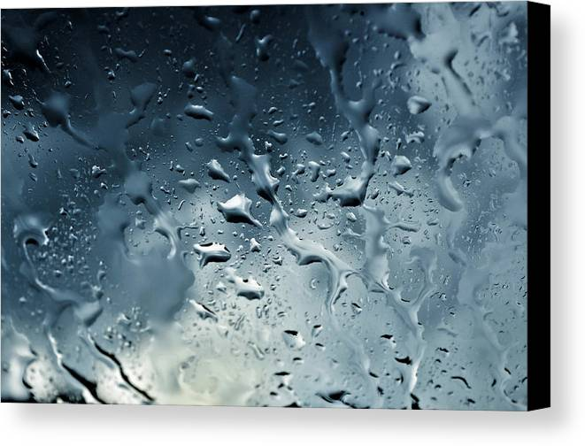 Raindrops Canvas Print featuring the photograph Raindrops by Fabrizio Troiani