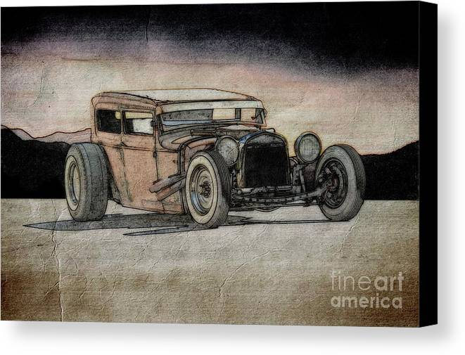 Coupe Canvas Print featuring the photograph Rat Rod 2 by Dave Koontz