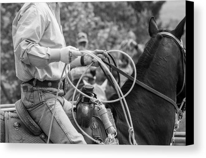 Cowboy Canvas Print featuring the photograph Ready And Waiting by JoJo Photography