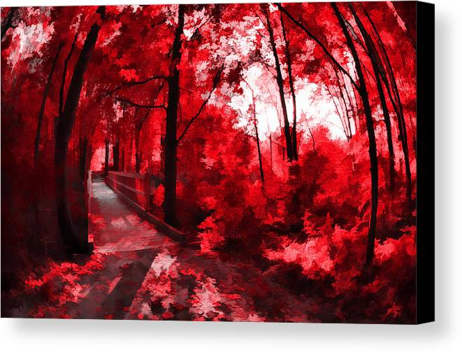 Trees Canvas Print featuring the photograph Red II by Tina Baxter
