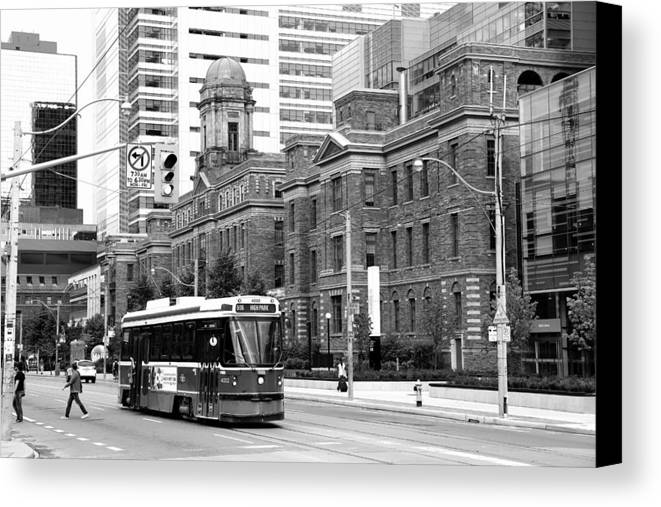 Streetcar Canvas Print featuring the photograph Red Rocket 36b by Andrew Fare