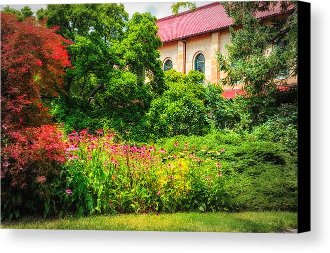 Oberlin College Canvas Print featuring the photograph Red Roof by Mary Timman