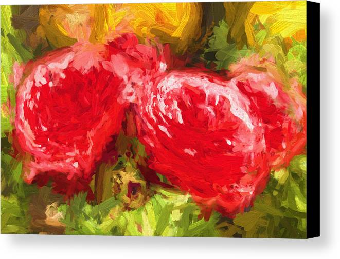 Red Roses Canvas Print featuring the photograph Red Roses by Henry Inhofer