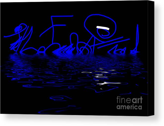 Abstract Canvas Print featuring the photograph Reflections In Blue - Abstract by Natalie Kinnear
