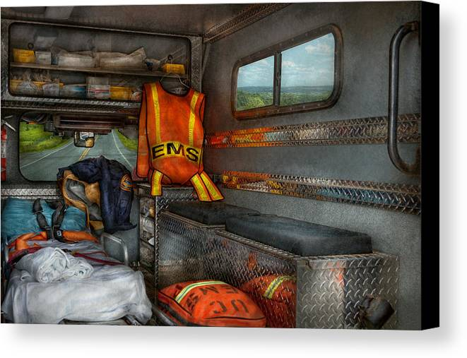 Rescue Canvas Print featuring the photograph Rescue - Emergency Squad by Mike Savad
