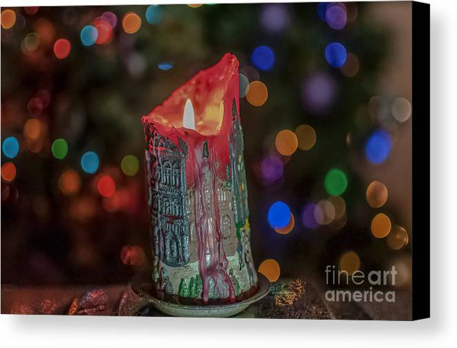 Candle Canvas Print featuring the photograph Resin by Lyudmila Prokopenko