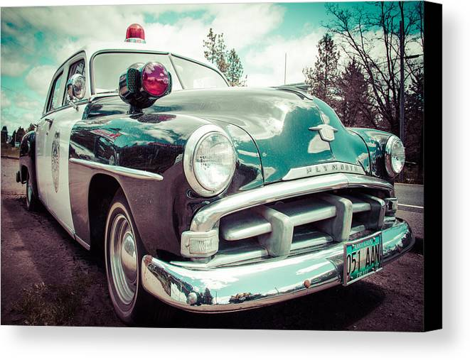 Art Canvas Print featuring the photograph Retro Cop 2 by Takeshi Okada