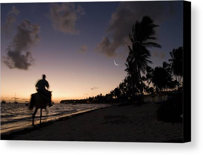 3scape Canvas Print featuring the photograph Riding On The Beach by Adam Romanowicz
